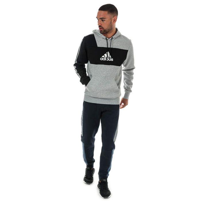 Men's adidas Originals Sport ID PO M Hoody in Grey black