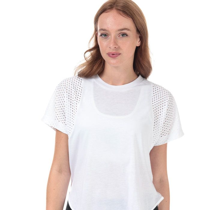 Women's adidas ID Mesh T-Shirt in White