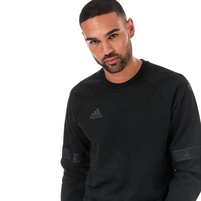 Men's adidas Originals TAN Heavy Crew Sweatshirt in Black
