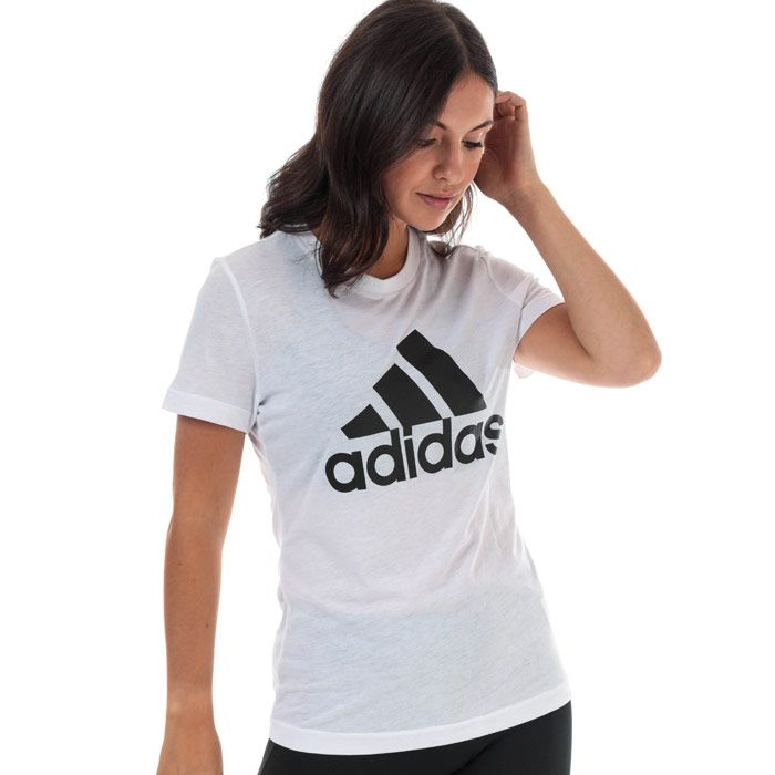 Women's adidas Must Haves Badge Of Sport T-Shirt in White