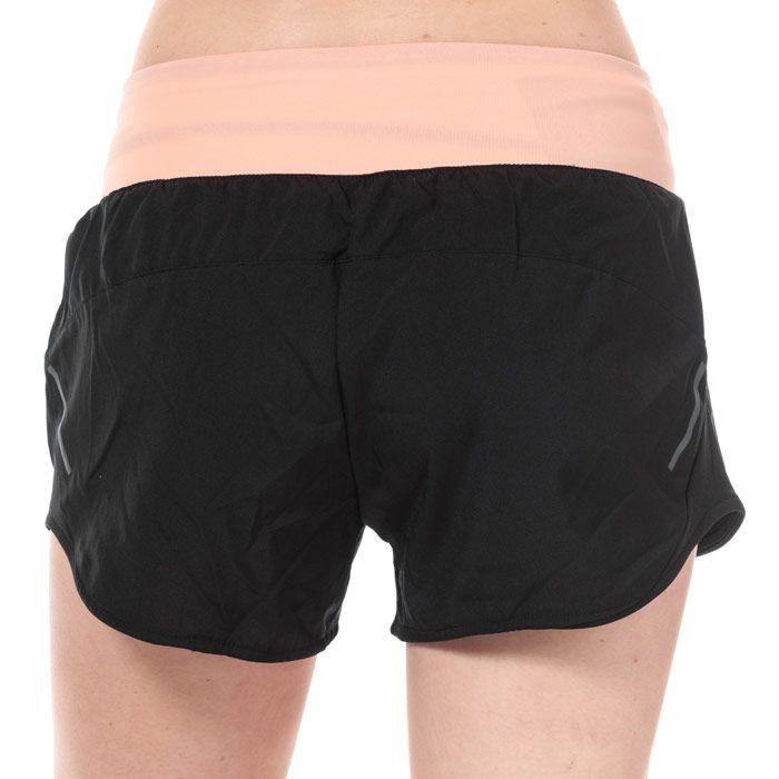 Women's adidas Run It 3 Inch Shorts in black pink