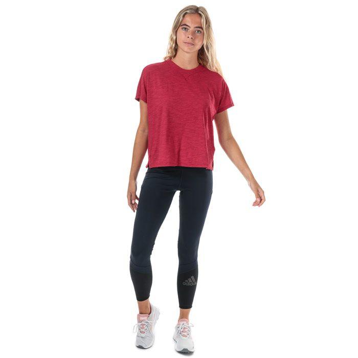 Women's adidas ID Winners AtT-Shirttude T-Shirt in Burgundy