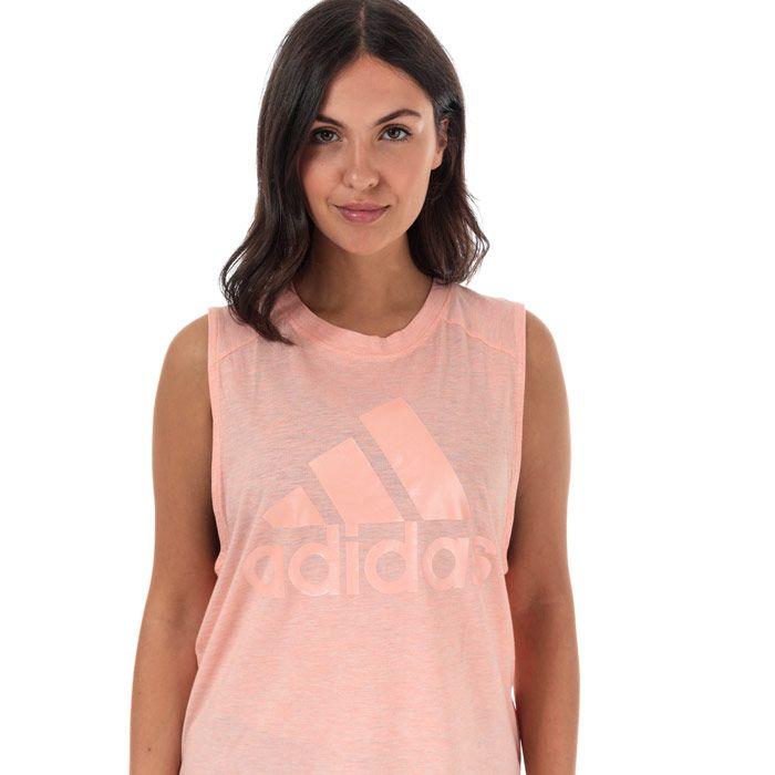 Women's adidas ID Winners Muscle Tank Top in Pink