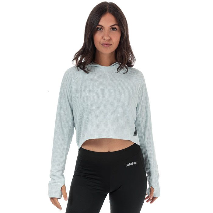 Women's adidas Adapt To Chaos Hoody in Light Blue