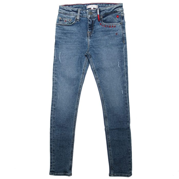 Girls' Tommy Hilfiger Junior Nora Reg Skinny Jeans in Denim