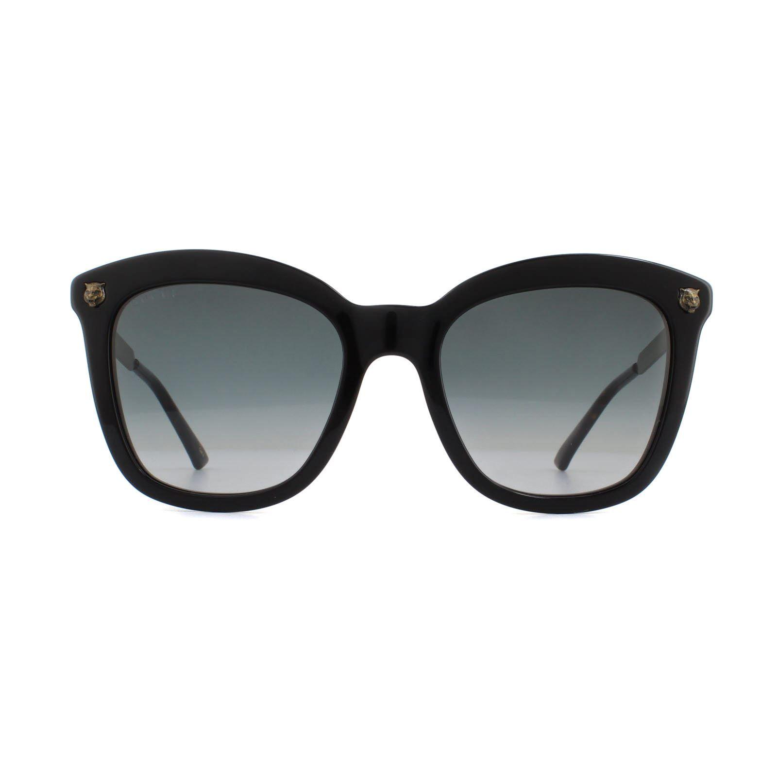Gucci Sunglasses GG0217S 001 Black Gold Grey