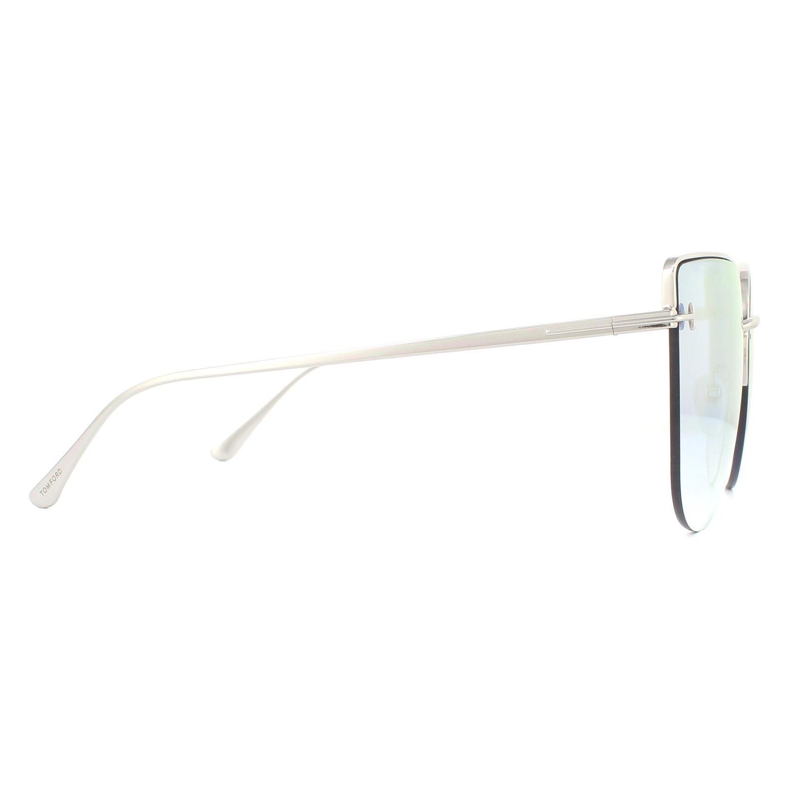 Tom Ford Sunglasses Ingrid-02 FT0652 16Z Shiny Palladium Blue Gradient