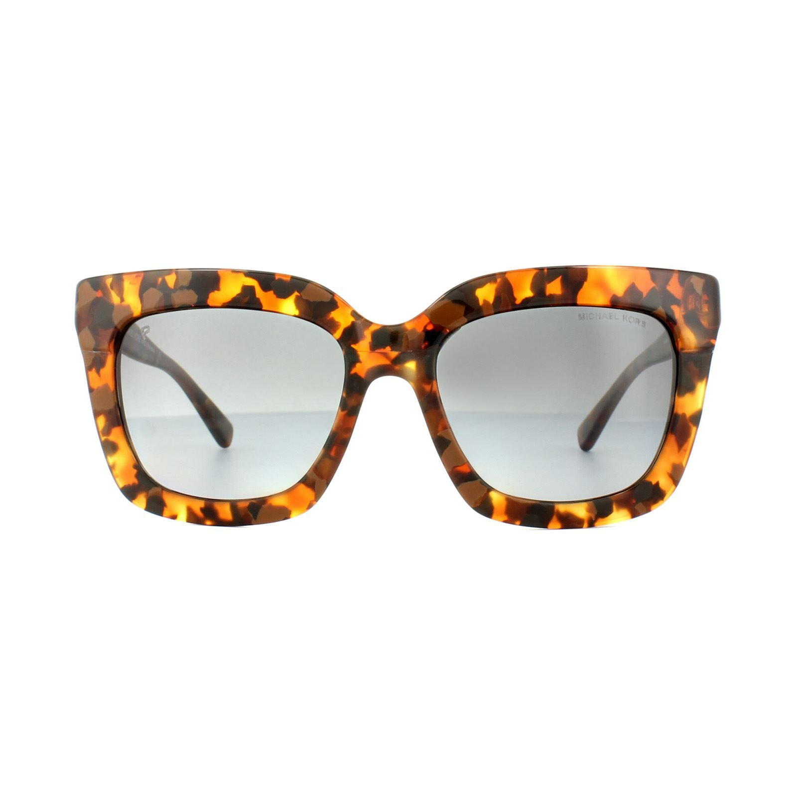Michael Kors Sunglasses Polynesia MK2013 3066T3 Brown Tortoise Grey Gradient Polarized