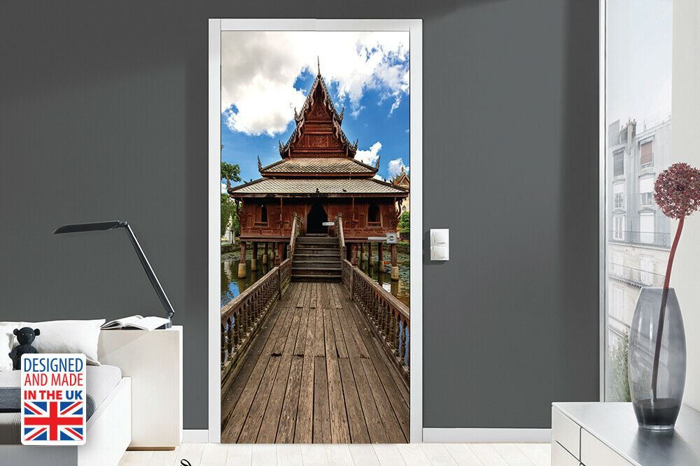 Temple Path Self-Adhesive Door Mural Sticker For All Europe Size 90Cm X 200Cm