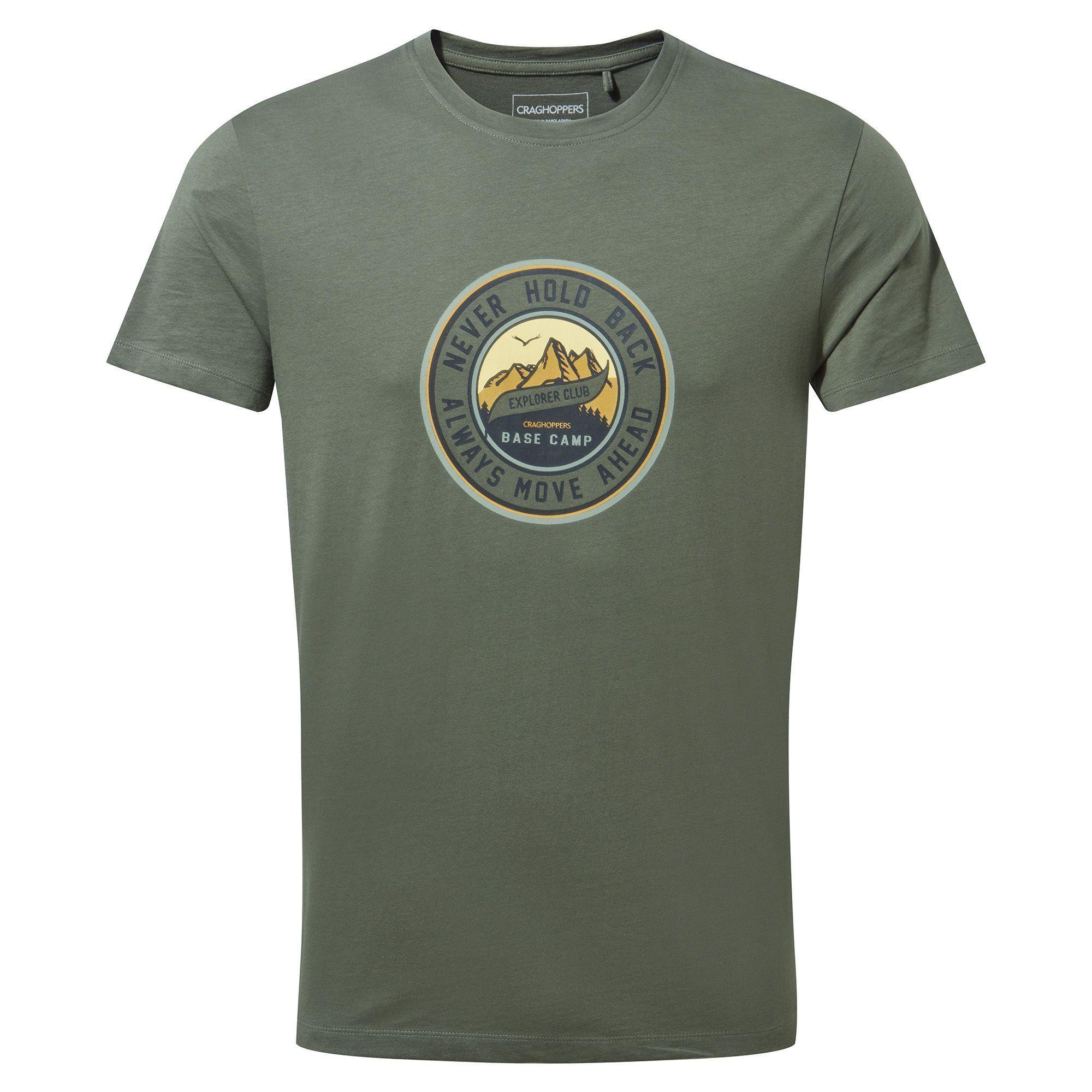 Craghoppers Mens Mightie Logo T-Shirt (Parka Green)