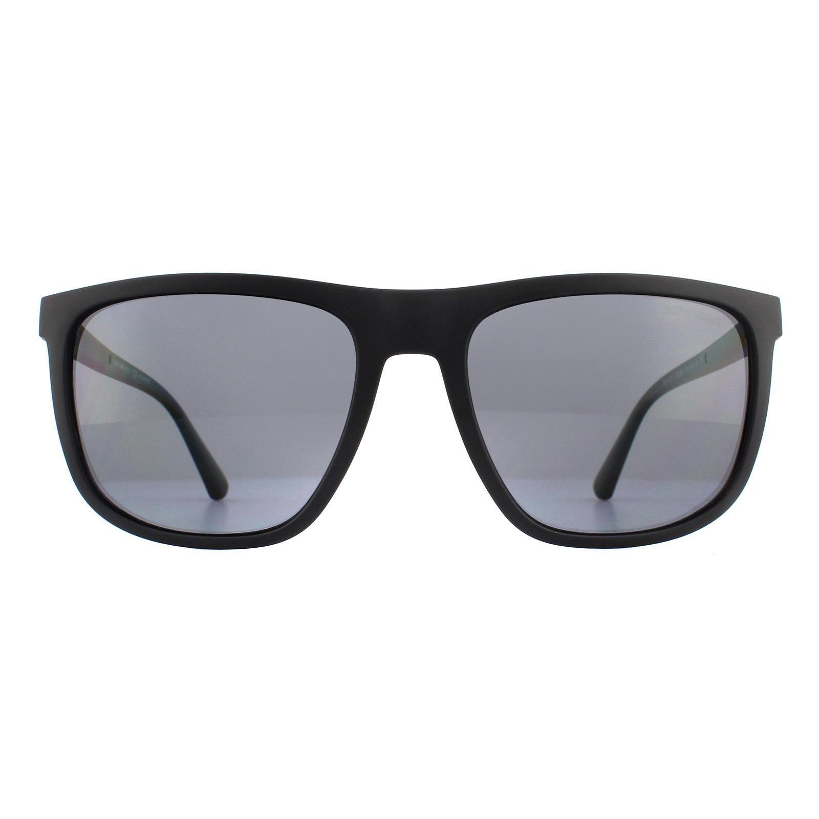 Emporio Armani Sunglasses EA4124 573381 Matte Black Grey Polarized