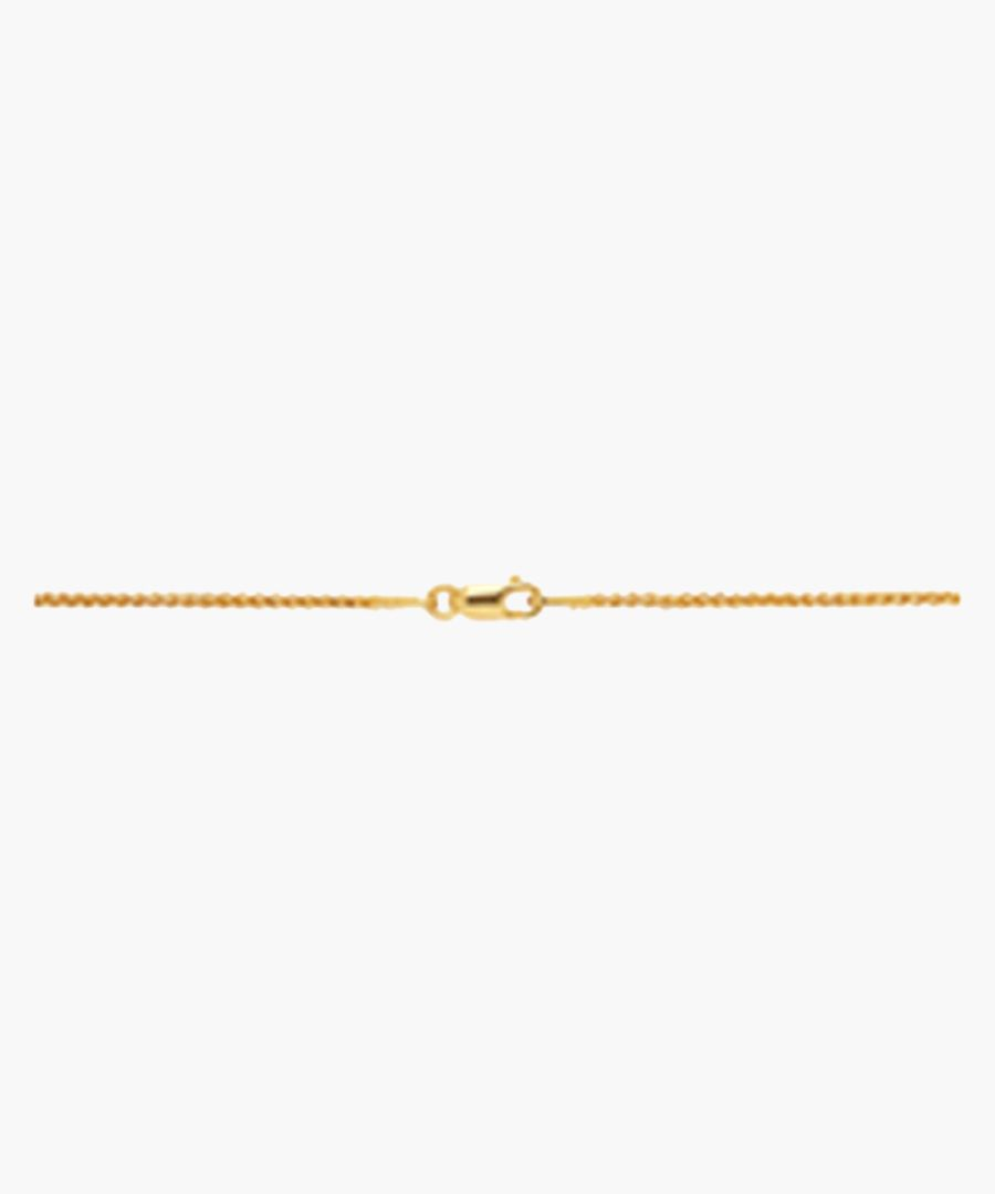 Spiga gold-flash chain necklace