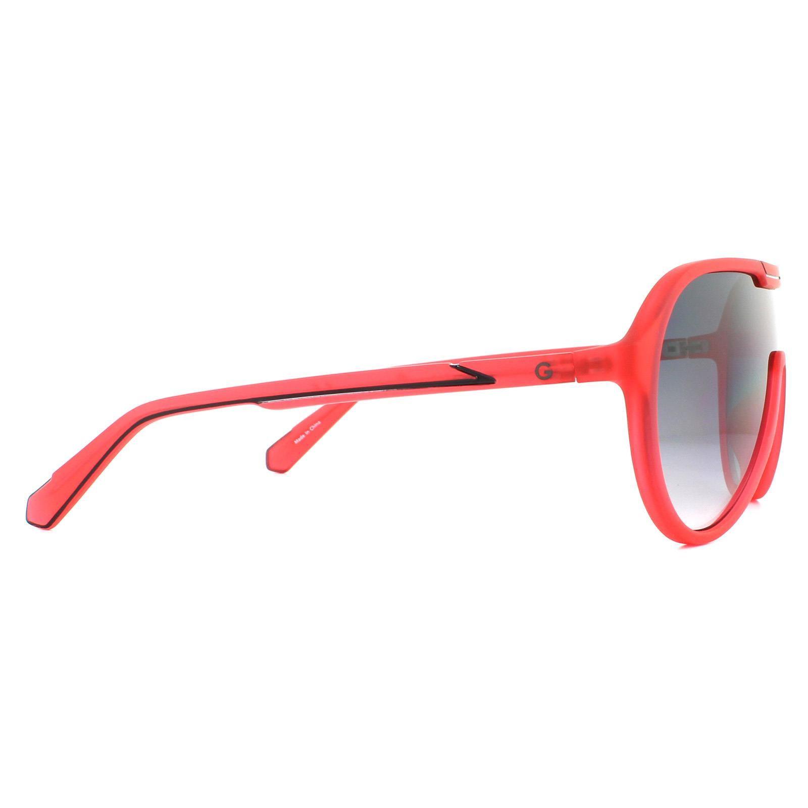 Guess Sunglasses GG2146 67B Matte Red Smoke Grey Gradient