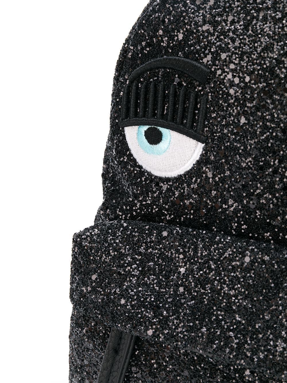 CHIARA FERRAGNI WOMEN'S CFZ004BLACK BLACK POLYESTER BACKPACK