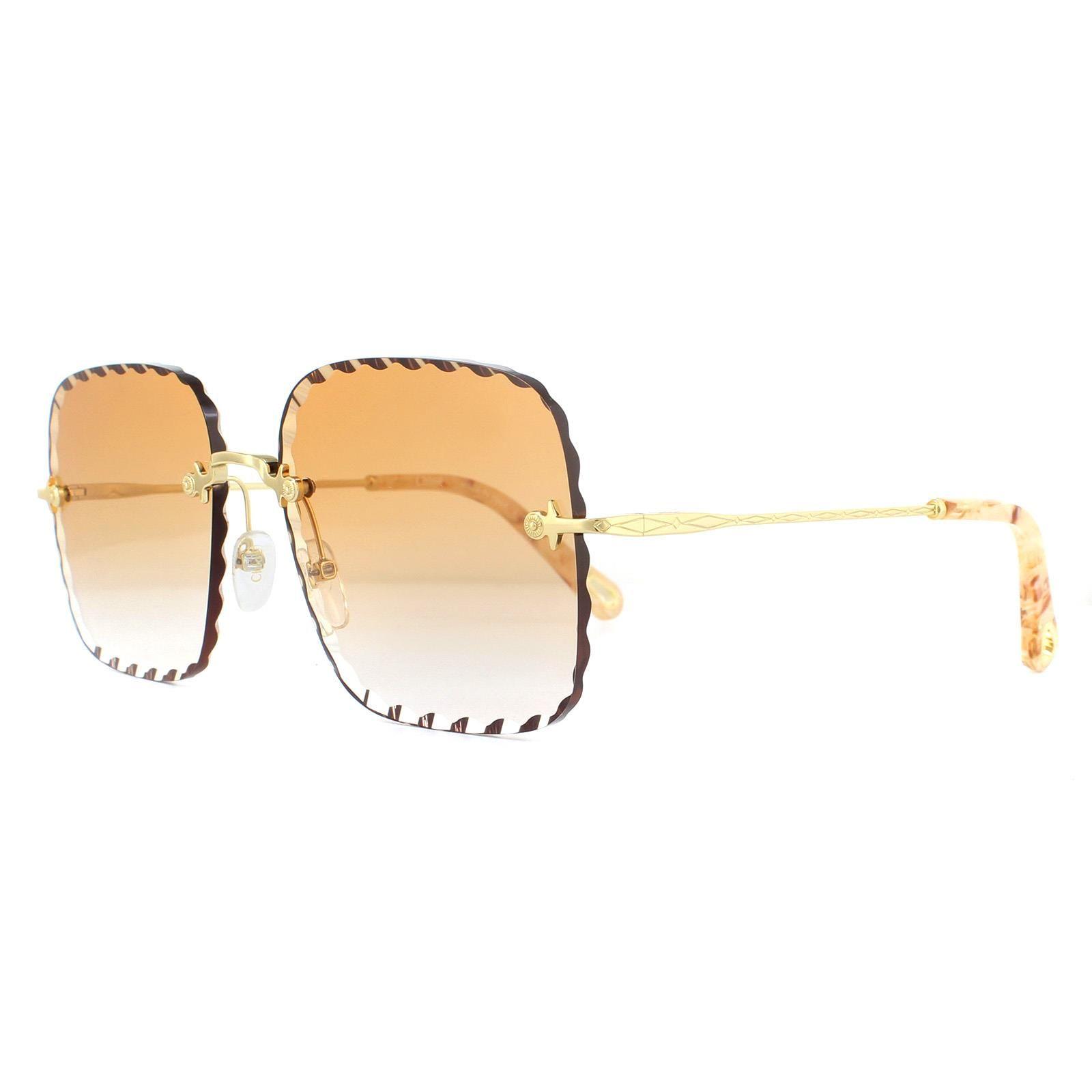 Chloe Sunglasses CE161S 862 Gold Brown Peach Gradient