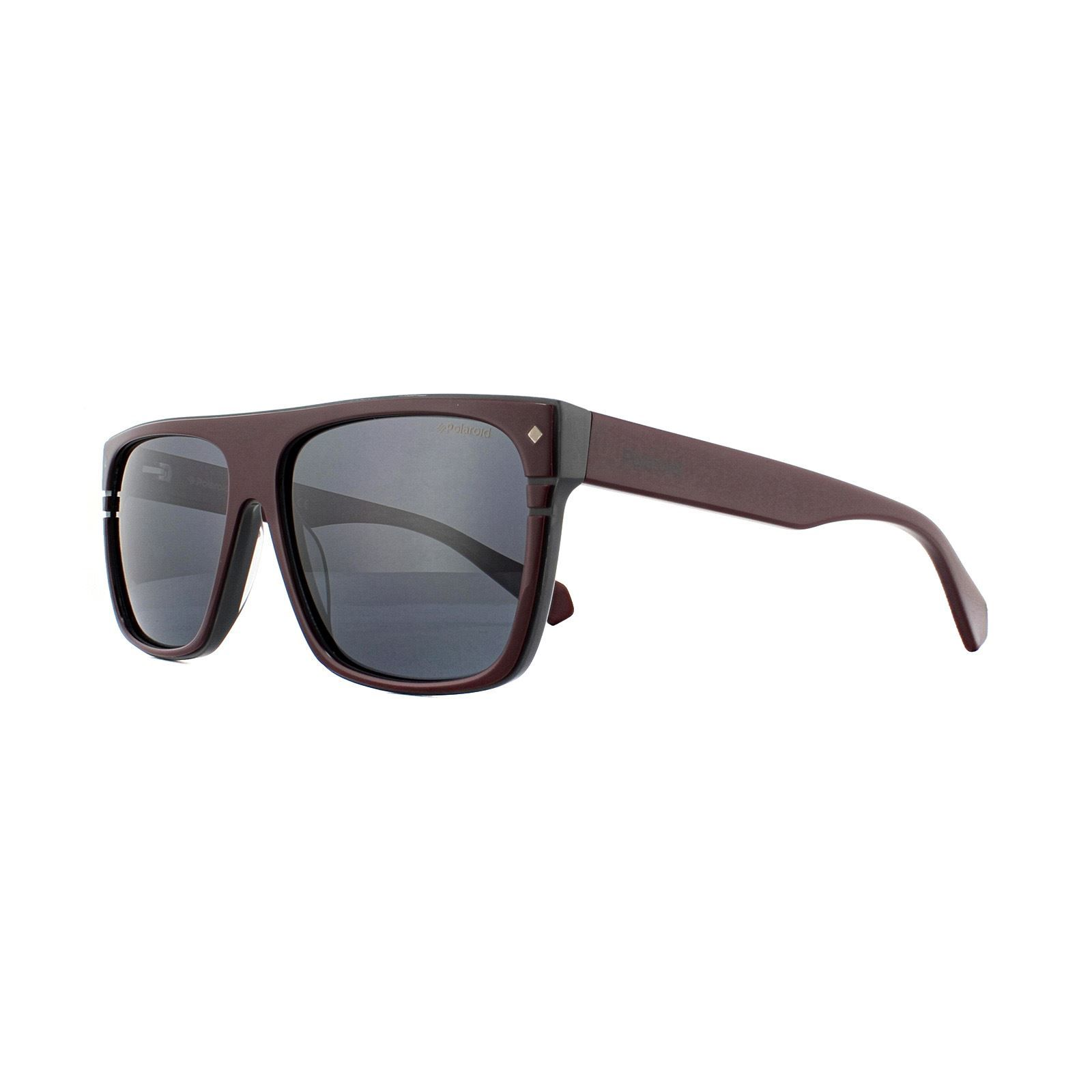 Polaroid Sunglasses PLD 6086/S/X FSF C3 Burgundy Grey Grey Polarized