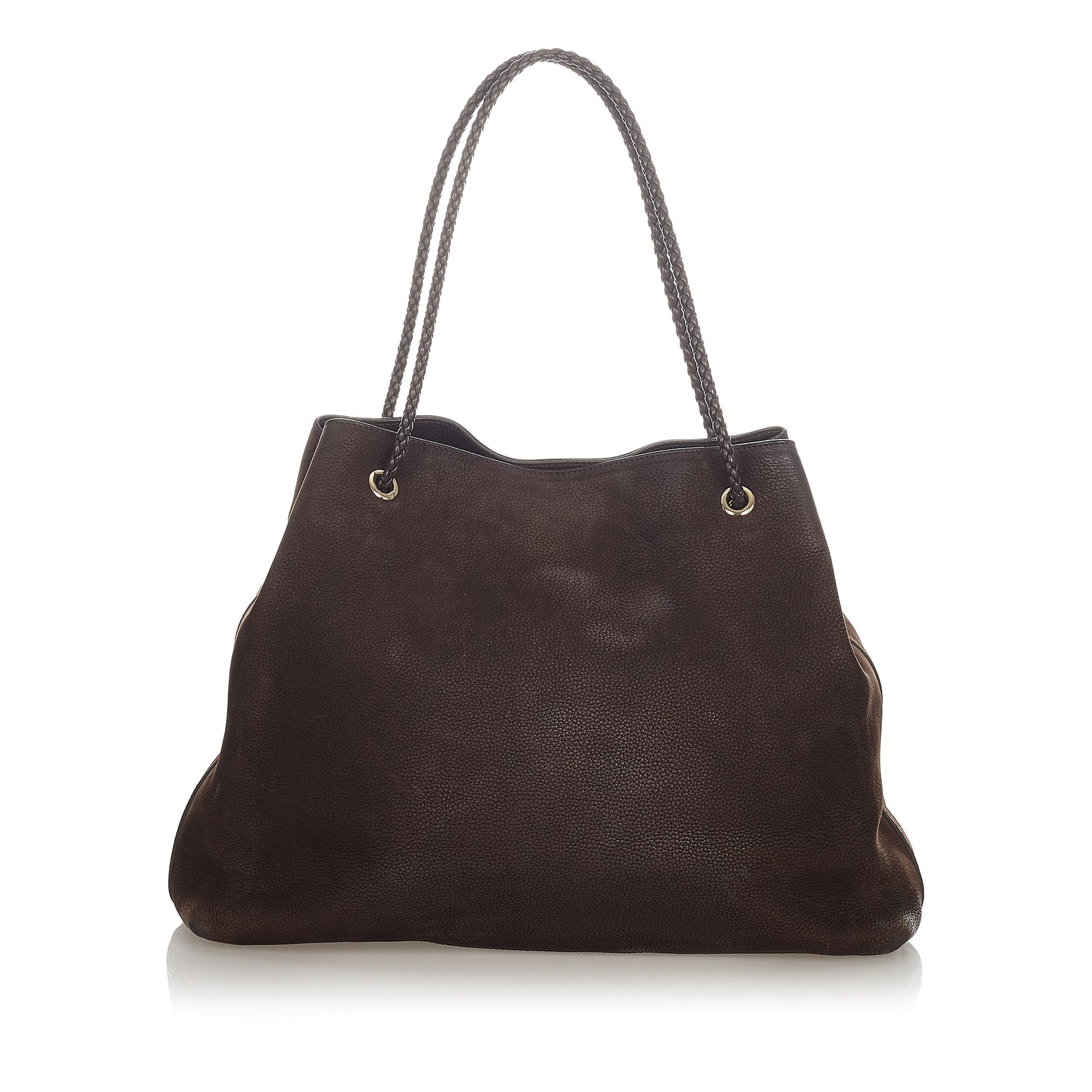 Vintage Gucci Gifford Leather Tote Bag Brown