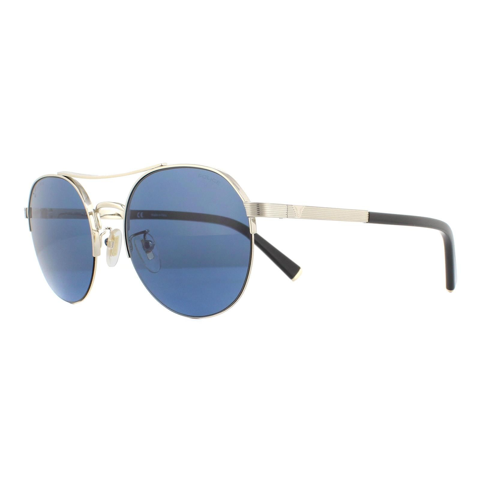 Police Sunglasses SPLA24 Lewis Hamilton 0594 Shiny Gold Blue