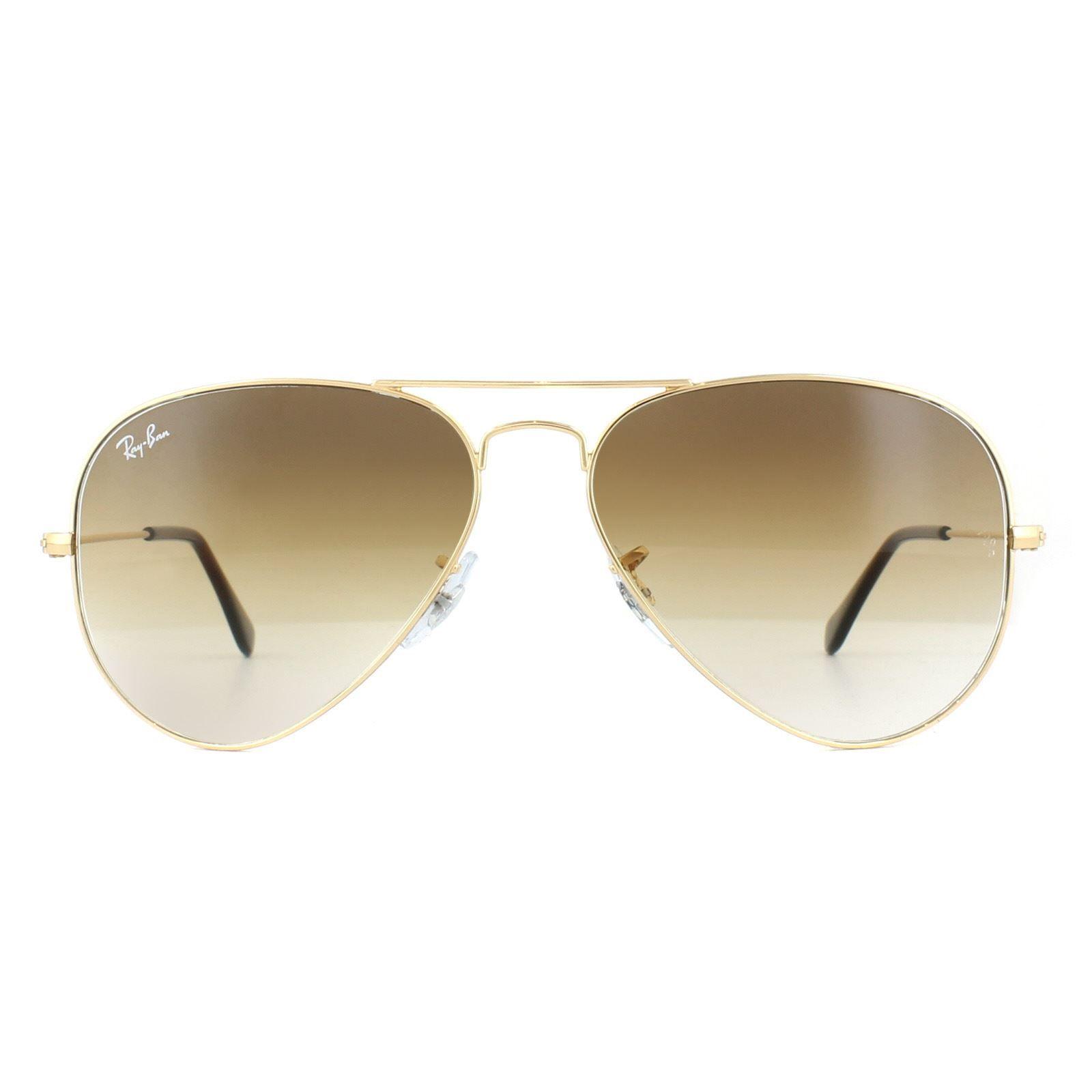 Ray-Ban Sunglasses Aviator 3025 001/51 Gold Brown Shade