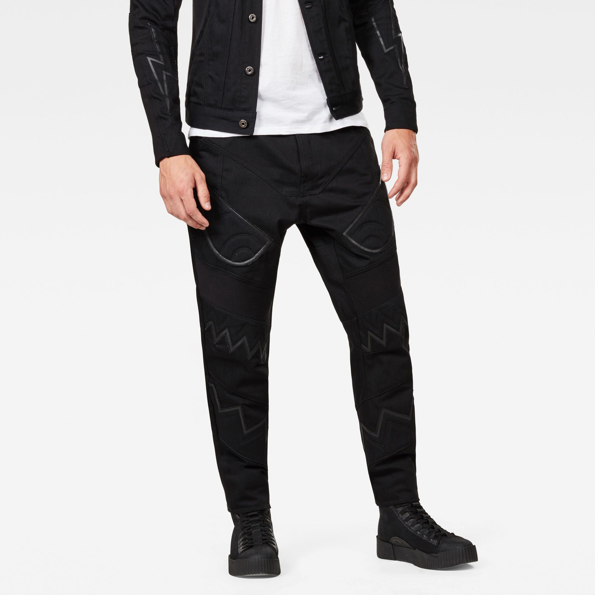 G-Star RAW Motac-X Deconstructed Relaxed Straight Moto Jeans