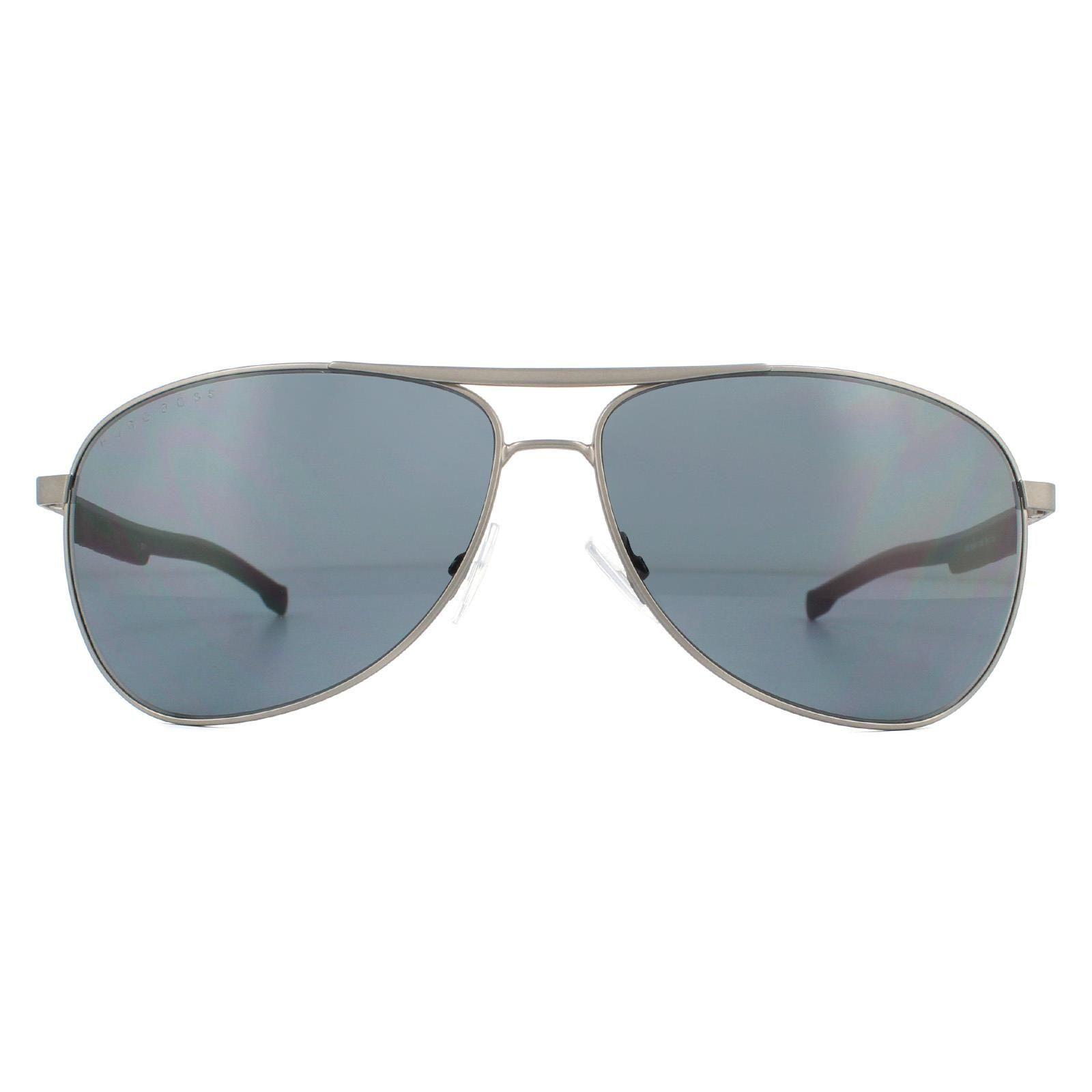 Hugo Boss Sunglasses BOSS 1199/N/S SVK/IR Semi Matte Ruthenium Black Grey