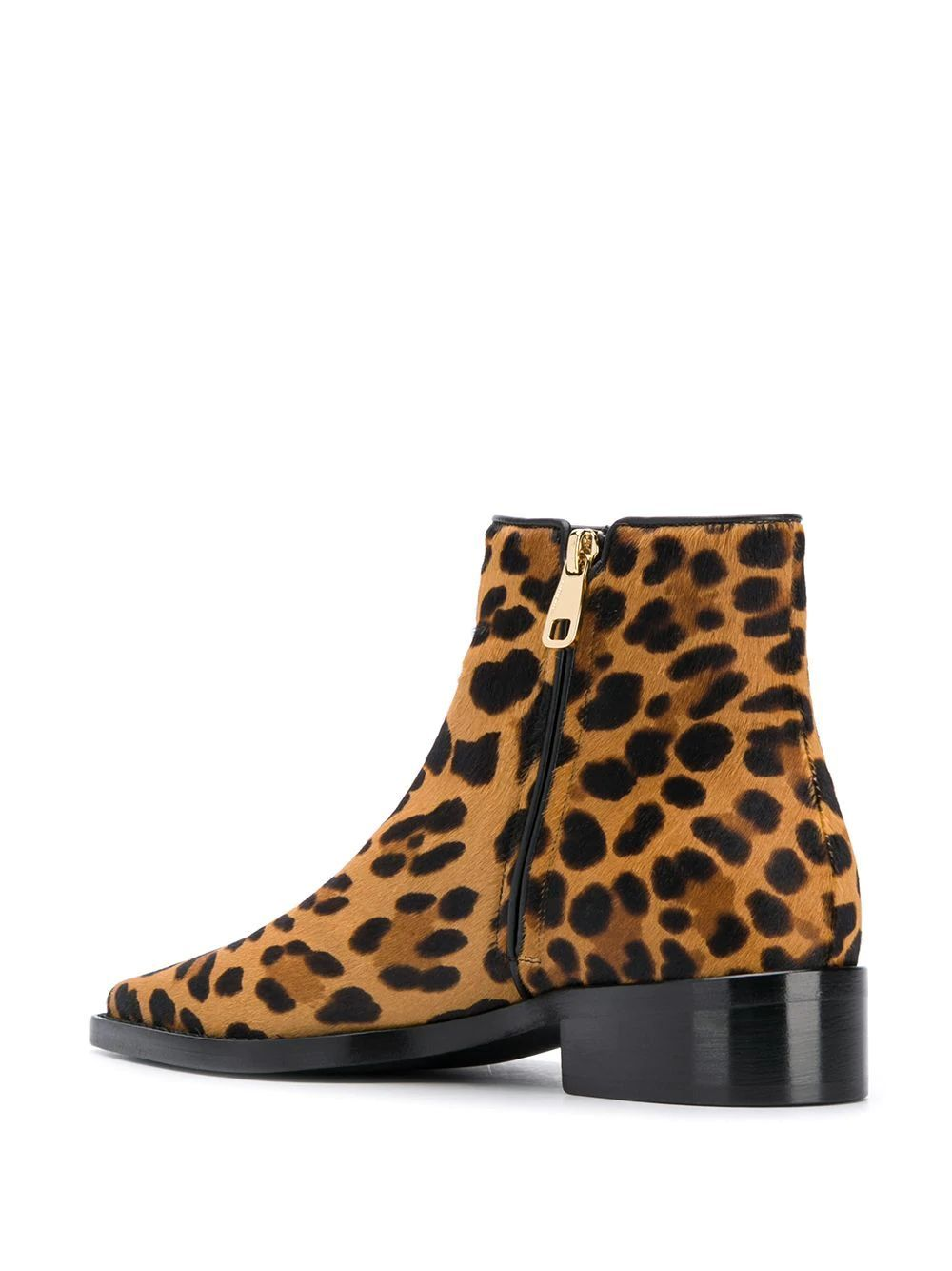 DOLCE E GABBANA WOMEN'S CT0583AI533HAALM BROWN LEATHER ANKLE BOOTS