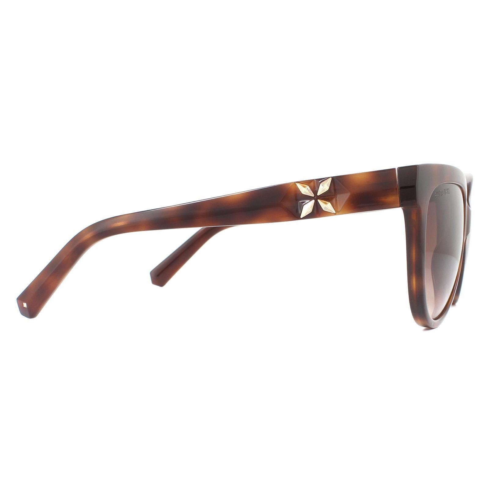 Swarovski Sunglasses SK0187 52F Dark Havana Brown Gradient
