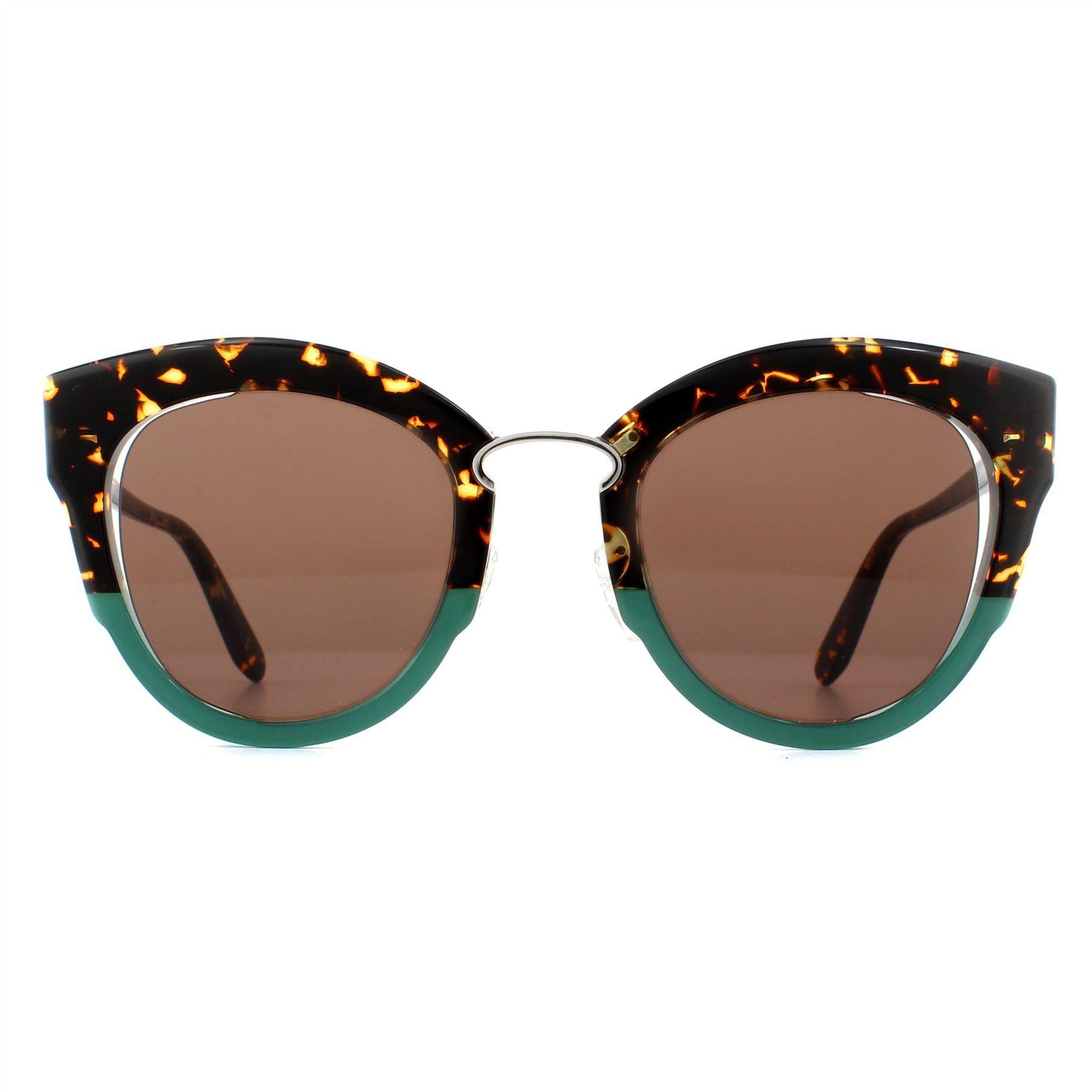 Salvatore Ferragamo Sunglasses SF830S 220 Tortoise Green Brown