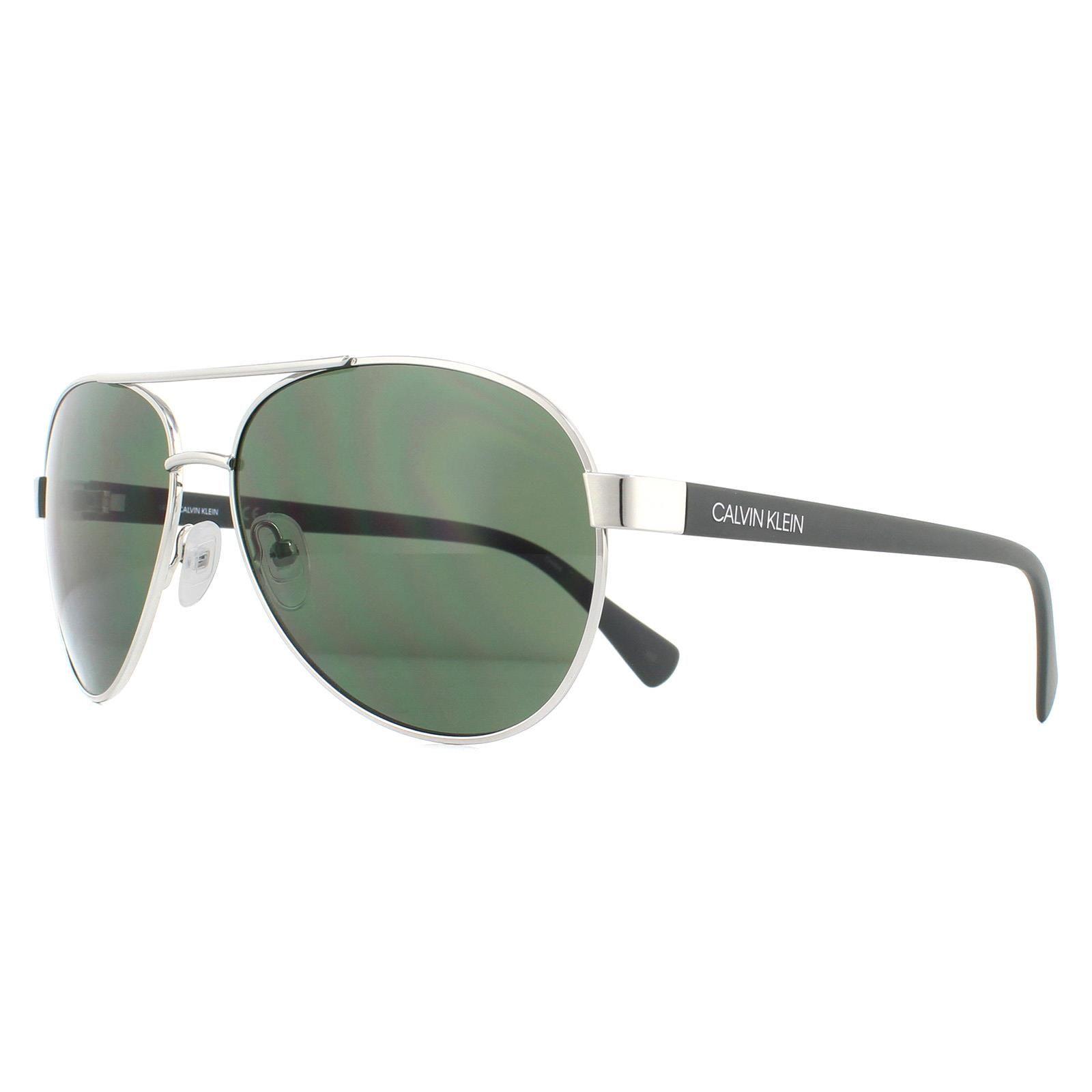 Calvin Klein Sunglasses CK19316S 045 Silver Green