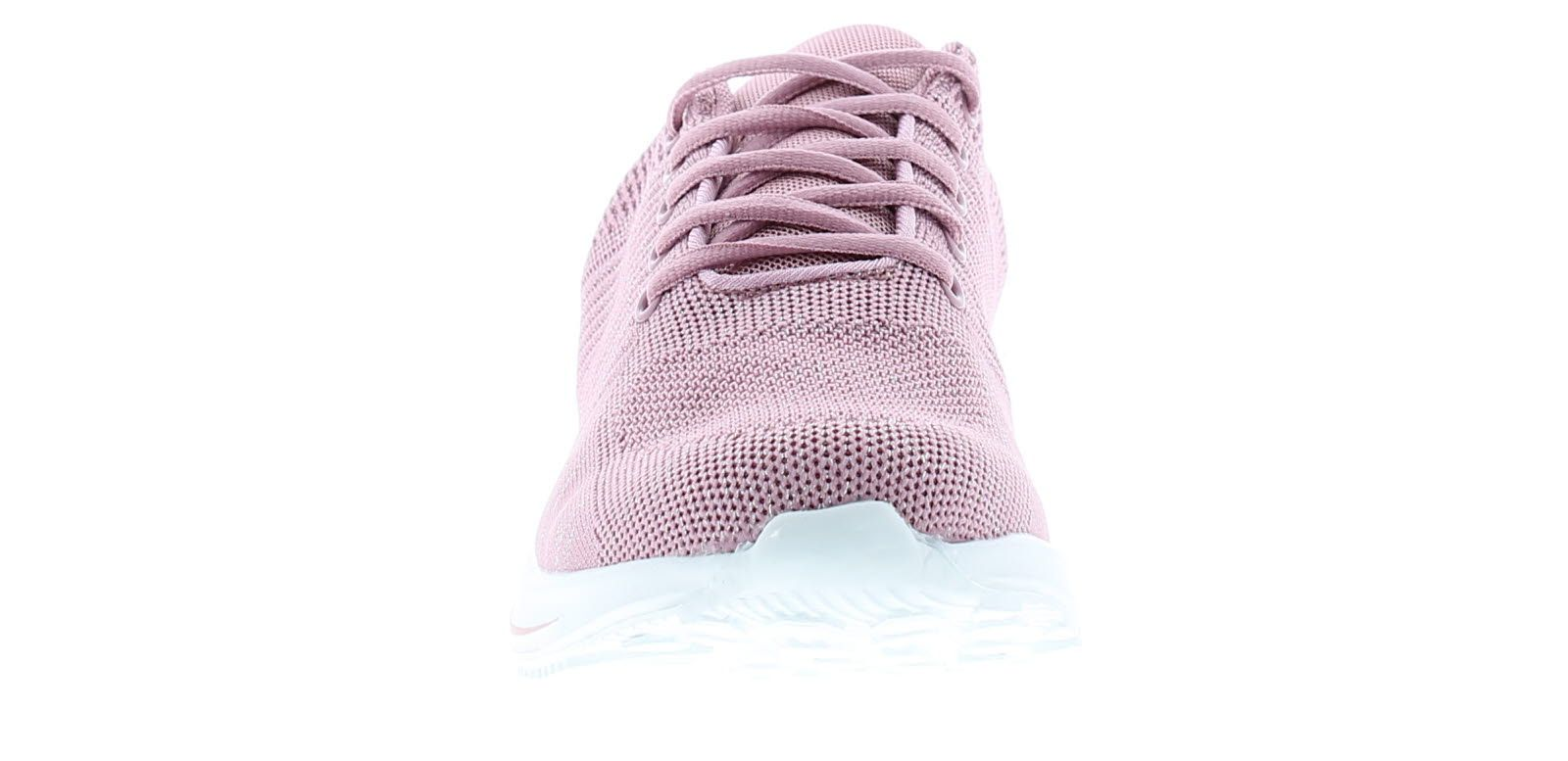 Ladies Knitt Upper Trainers 5 Eyelet Lace Fastening White Eva/Phylon Sole Unit With Contrast Colour