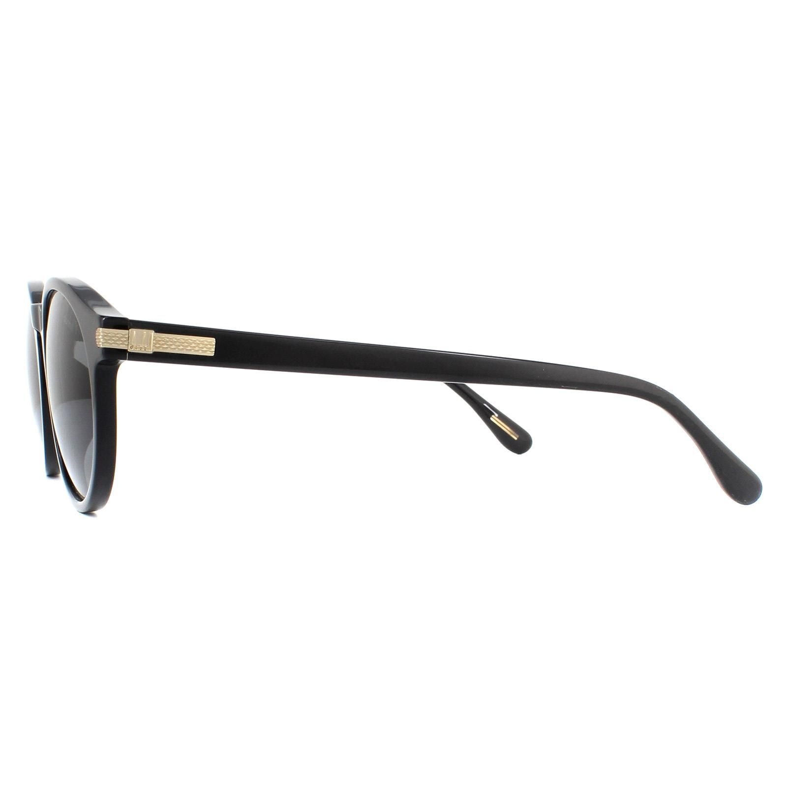 Dunhill Sunglasses SDH195M 700P Shiny Black Smoke Grey Polarized