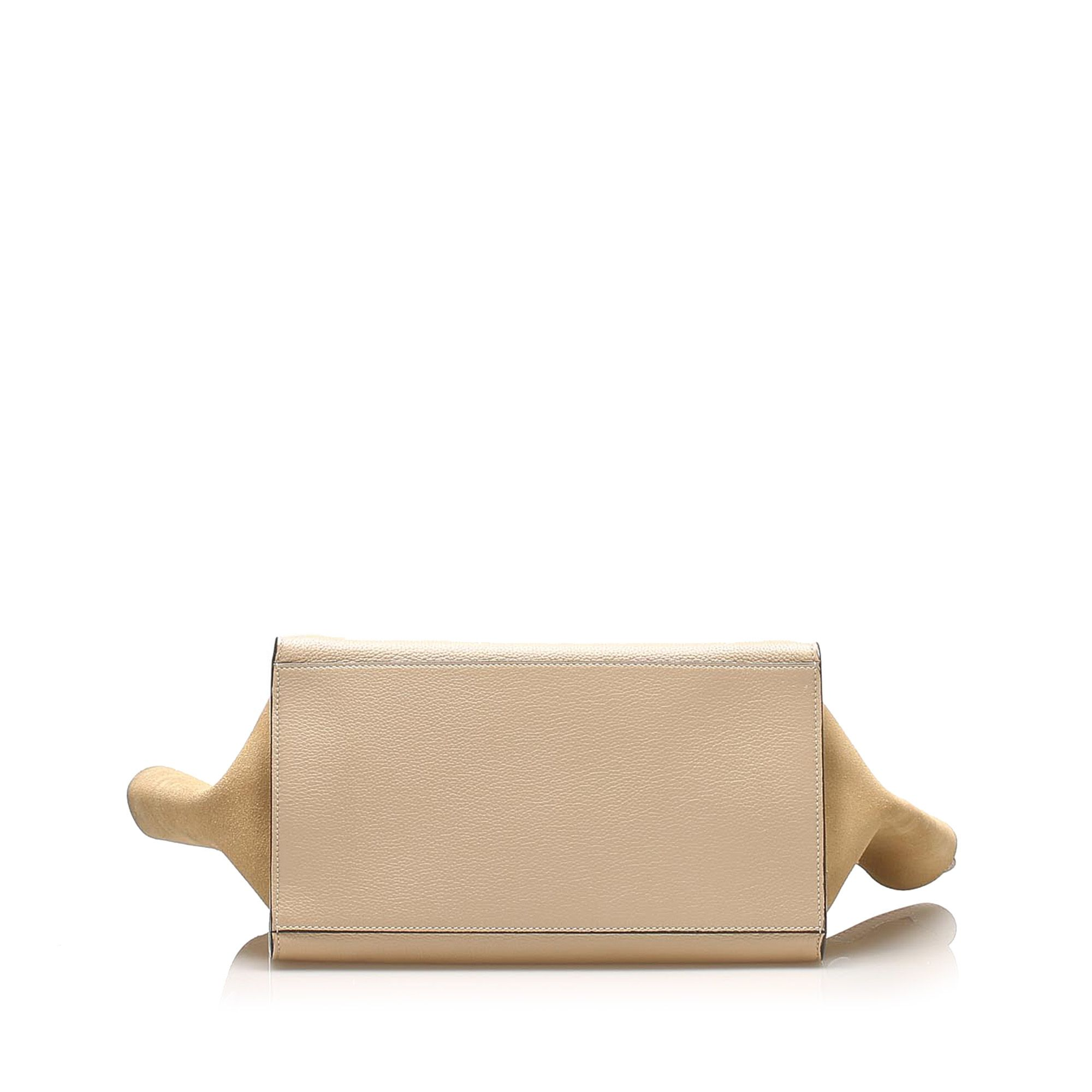 Vintage Celine Medium Trapeze Leather Satchel Brown
