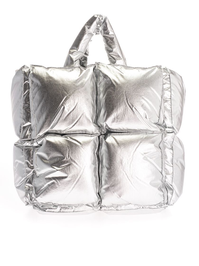 OFF-WHITE WOMEN'S OWNA100F19F760509100 SILVER POLYAMIDE SHOULDER BAG