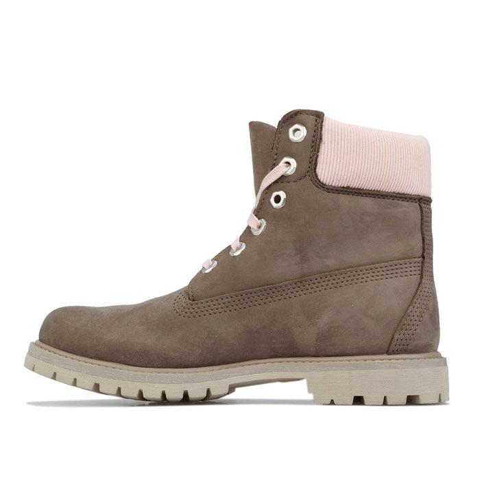 Women's Timberland 6 Inch Premium Waterproof Boots in olive