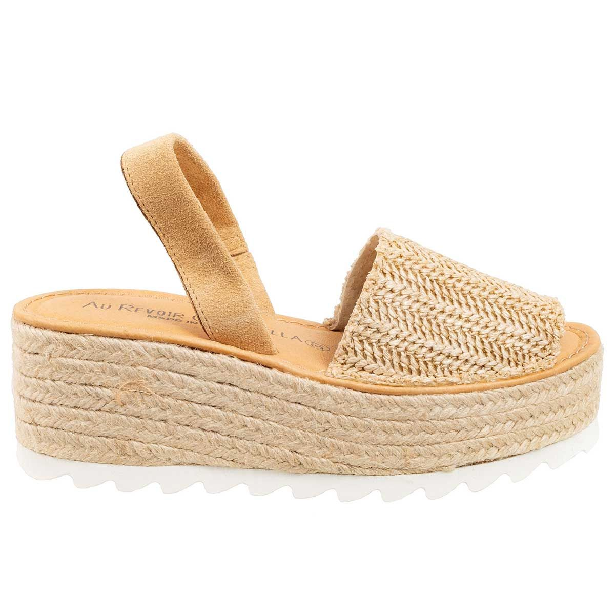 Leindia Sparto Platform Sandal in Brown