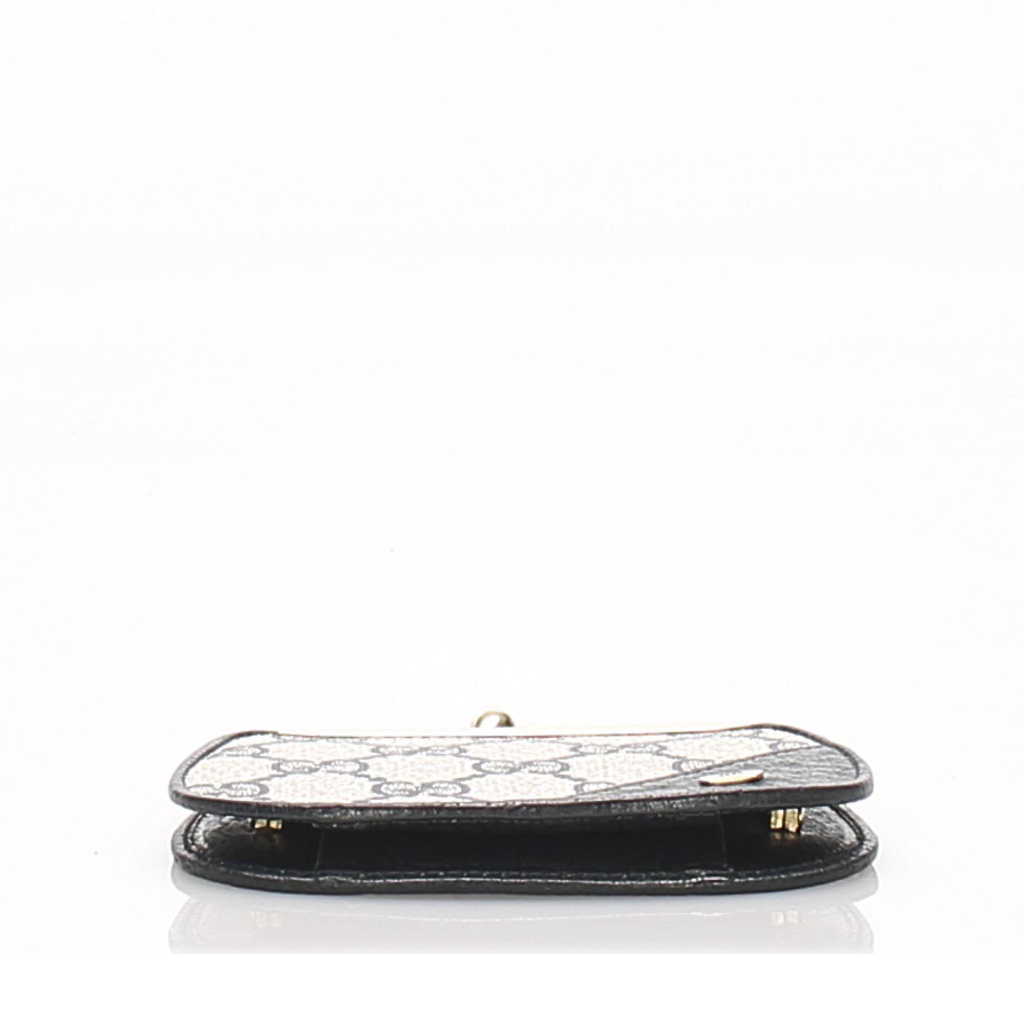 Vintage Gucci GG Supreme Coin Pouch Gray