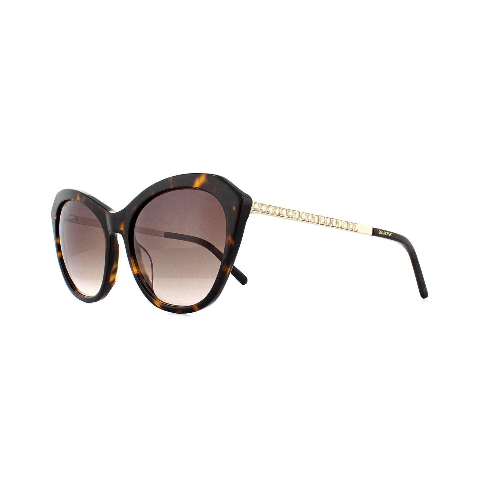 Swarovski Sunglasses SK0143 52F Dark Havana Brown Gradient