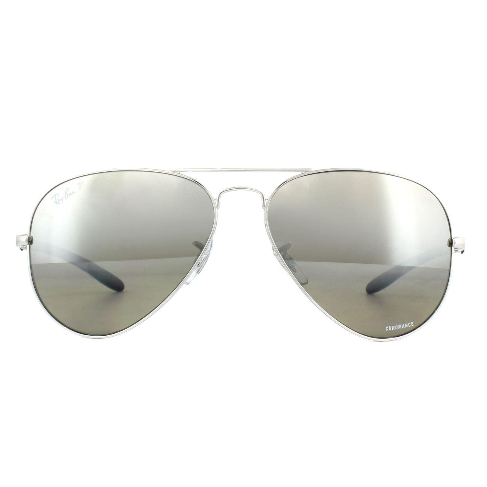 Ray-Ban Sunglasses RB8317CH 003/5J Aviator Silver Mirror Polarized Chromance