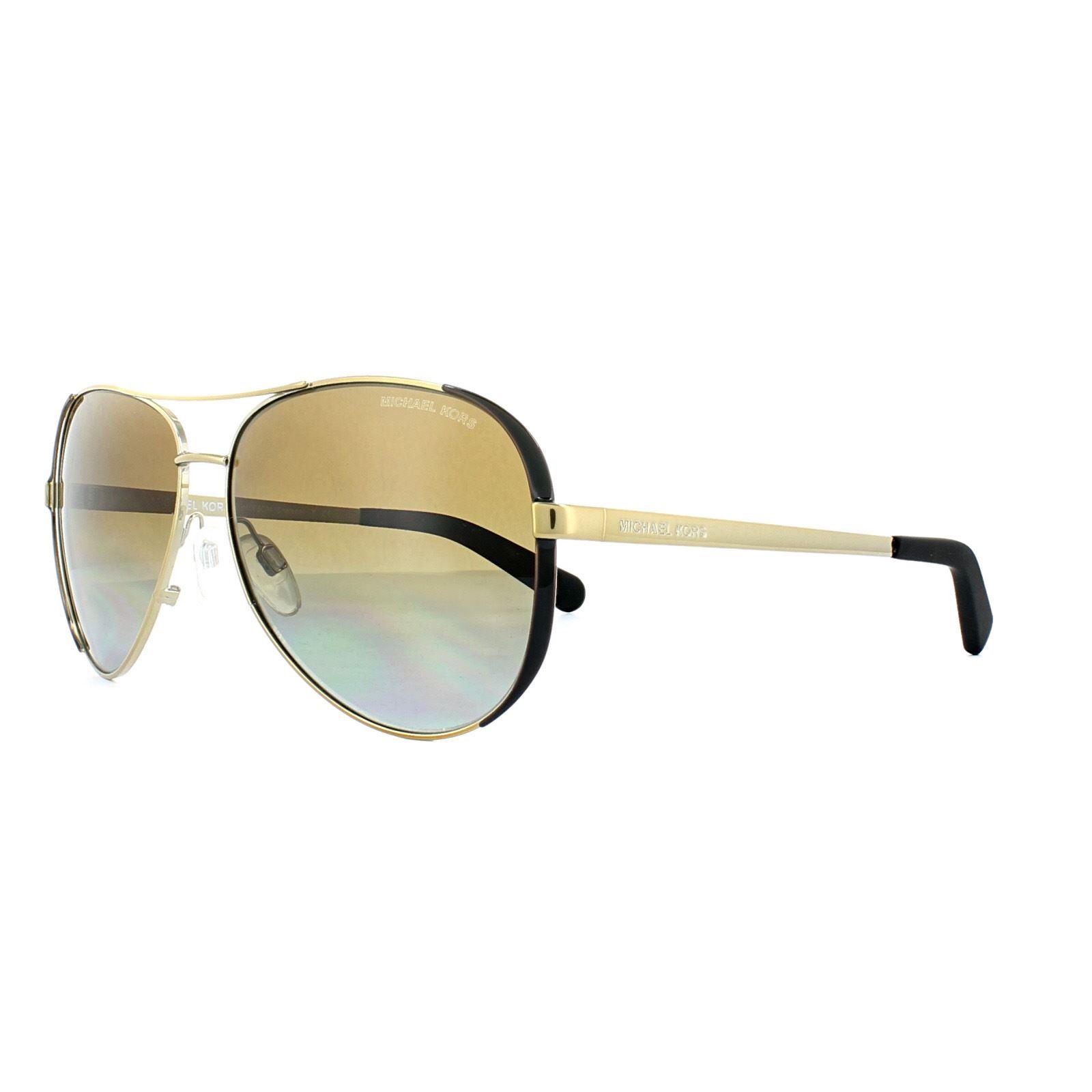 Michael Kors Sunglasses Chelsea 5004 1014/T5 Gold Dark Chocolate Brown Gradient Polarized