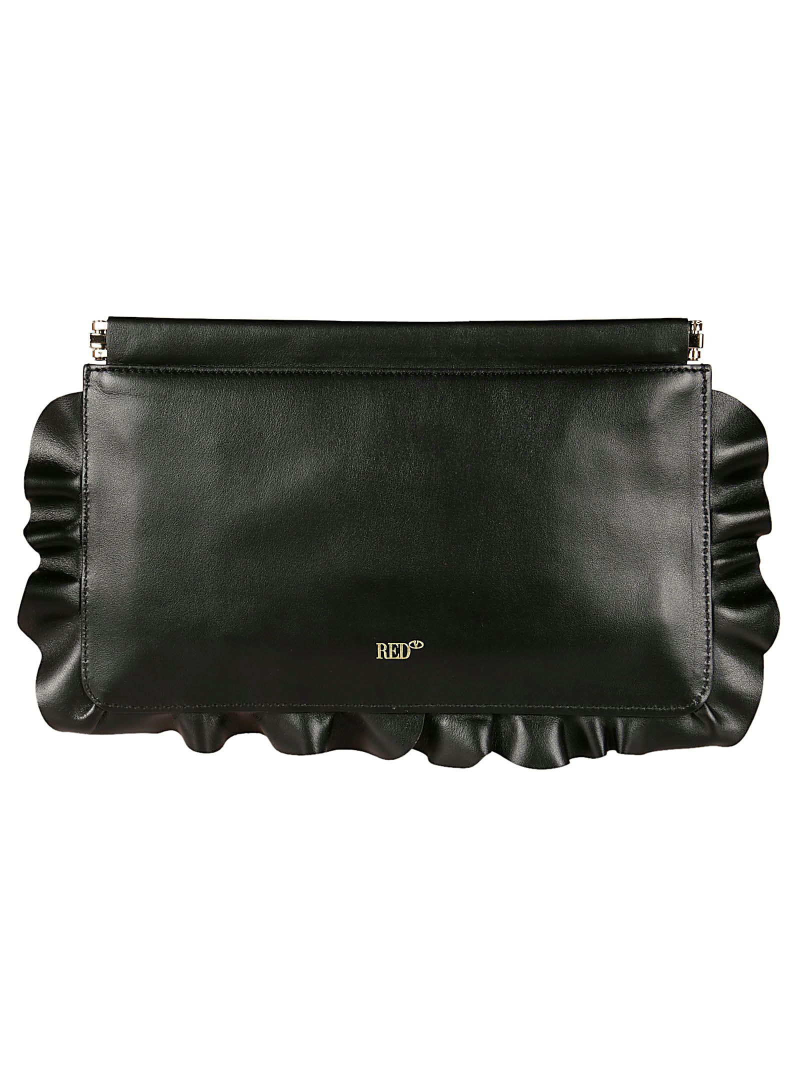 RED VALENTINO WOMEN'S QQ2B0A78EAV0NO BLACK LEATHER POUCH