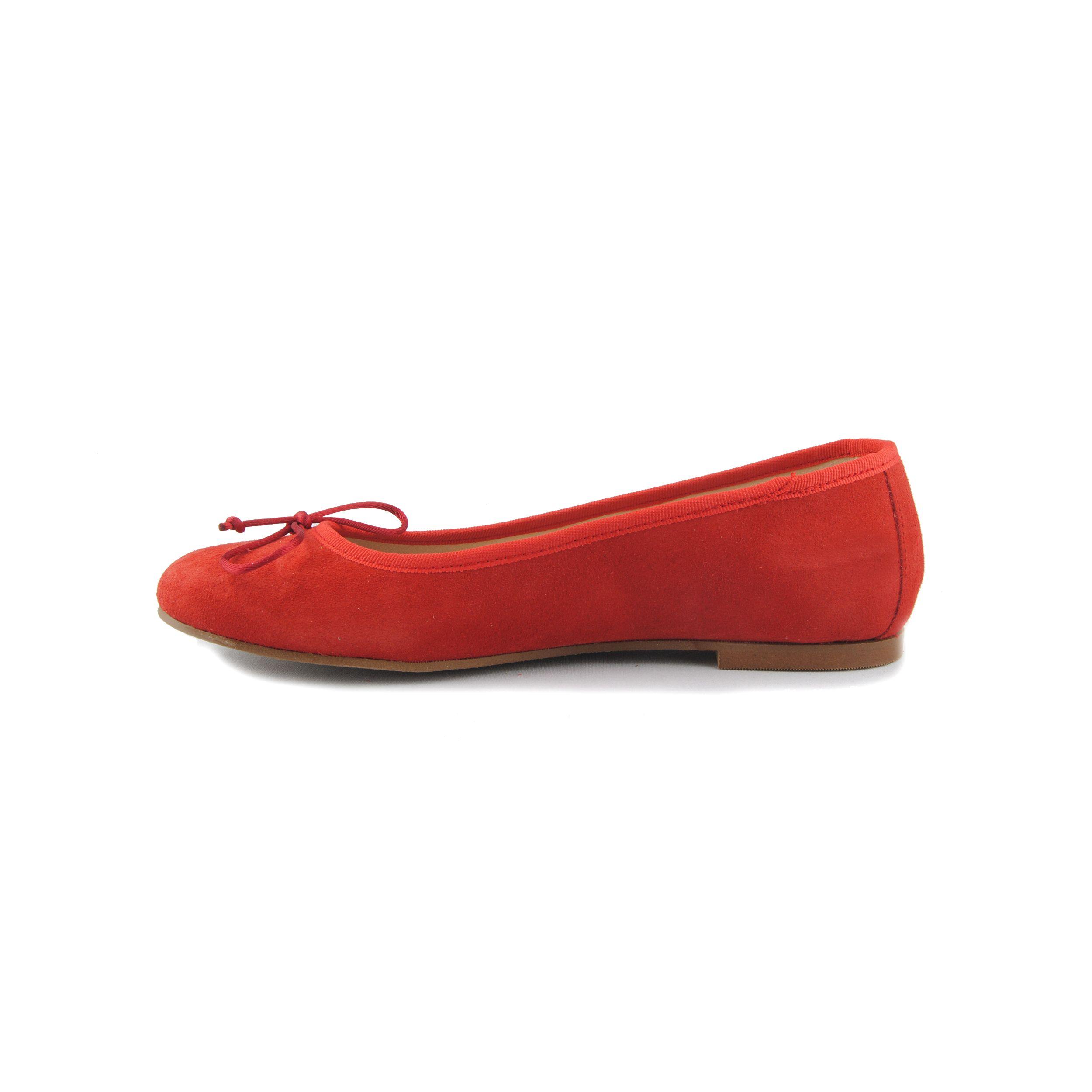 Purapiel Ballet Flat in Red