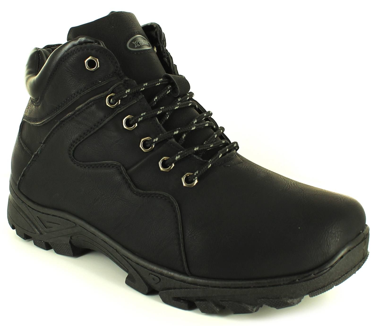 Mid Cut Tie Ups Outdoor Shoes Lace-Ups Snug High-Top Walking Boots Com