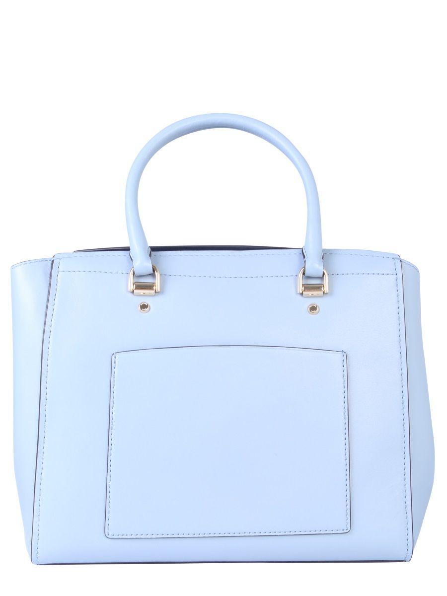 MICHAEL KORS WOMEN'S 30T8GN4S3L487 LIGHT BLUE LEATHER SHOULDER BAG