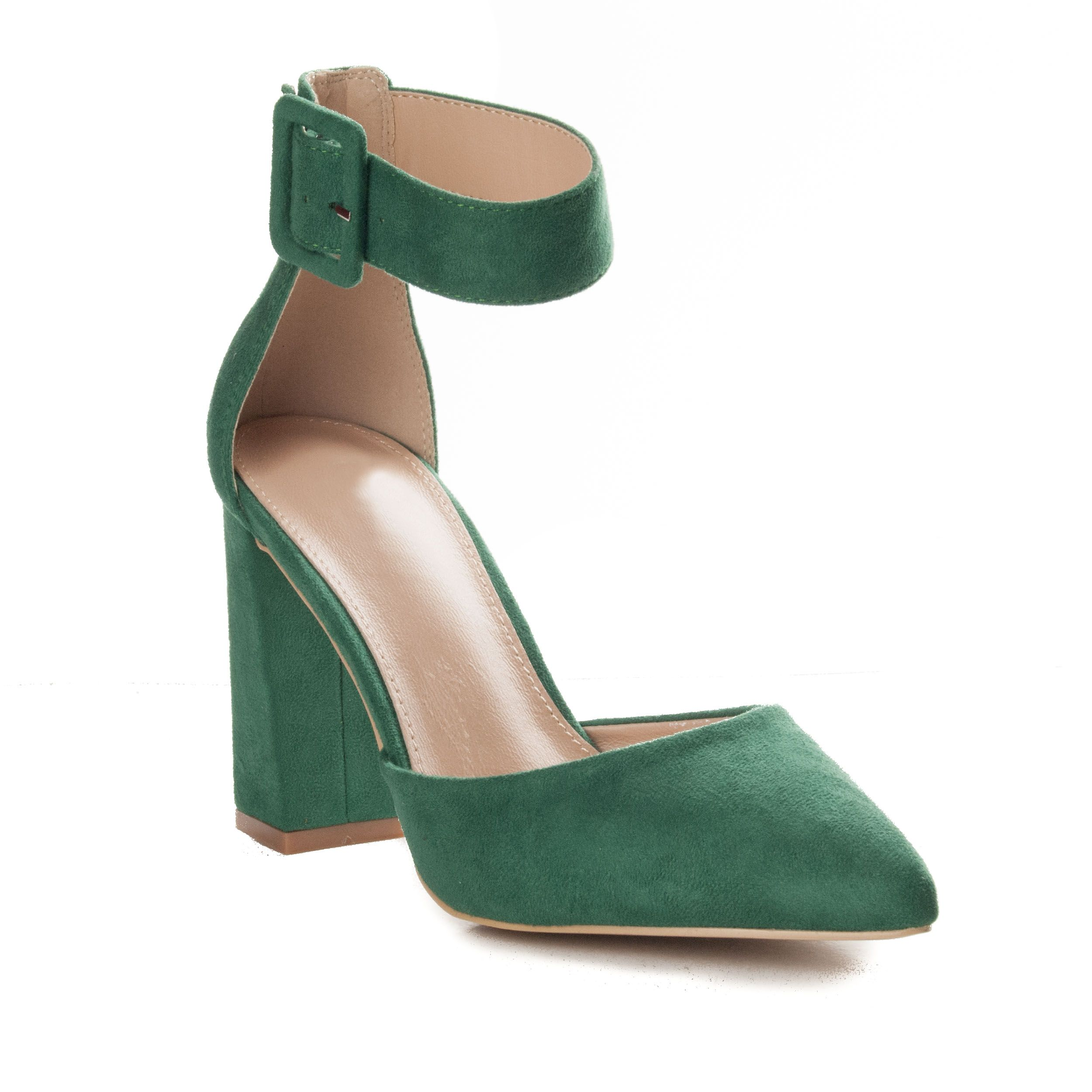 Montevita Block Heel Sandal in Green
