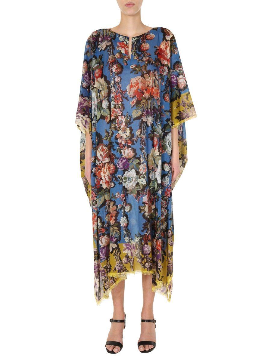 DRIES VAN NOTEN WOMEN'S 107319016975 BLUE COTTON DRESS