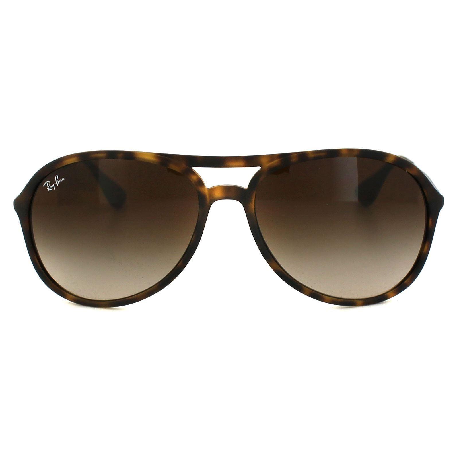 Ray-Ban Sunglasses Alex 4201 865/13 Rubber Havana Brown Gradient