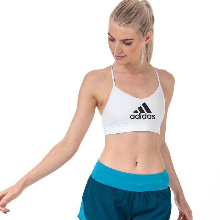 Women's adidas All Me Badge Of Sport Bra in White