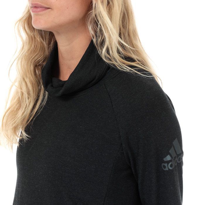 Women's adidas Cozy Cover Up Top in Black