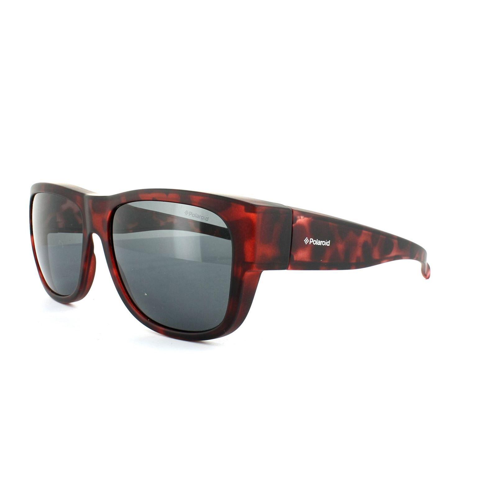 Polaroid Suncovers Fitover Sunglasses 9003/S MRJ Y2 Havana Grey Polarized