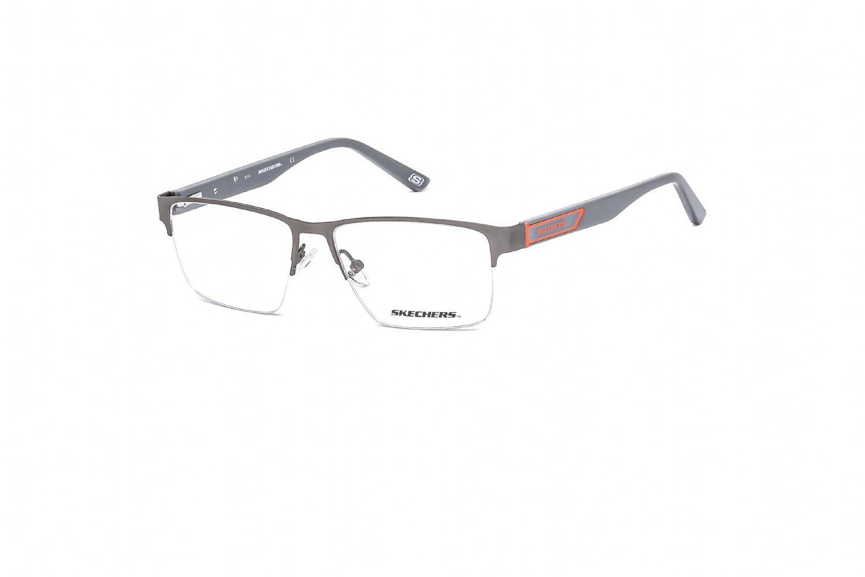 Skechers Rectangular metal Men Eyeglasses Blue / Clear Lens